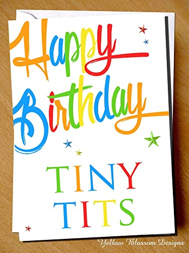 Happy Birthday Tiny Tits For Her Female Insulting Card Funny Best Friend Sister Brother Mum Dad Cunt Twat Wanker Bellend