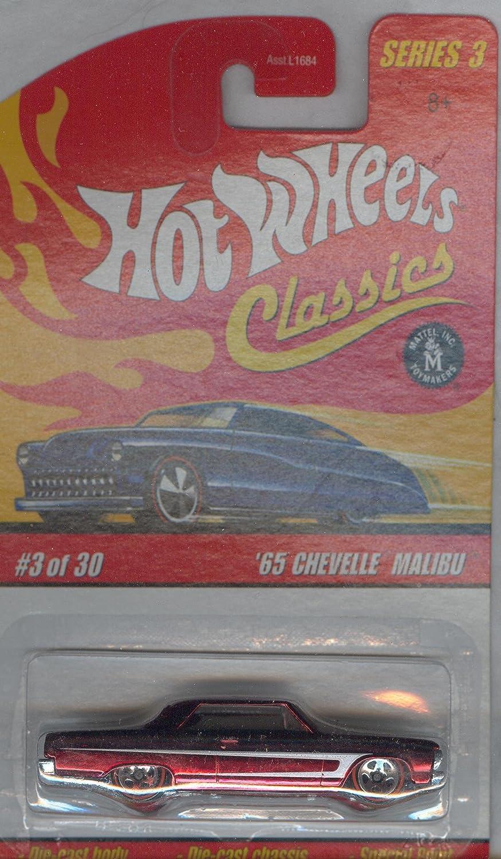 Amazon com: HOT WHEELS 2006 3 of 30 red '65 CHEVELLE MALIBU