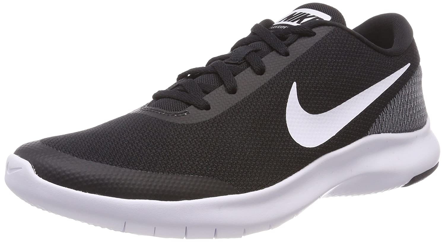 NIKE Women's Flex Experience 7 Running Shoe B0725GYMHF 12 B(M) US|Black/White-white