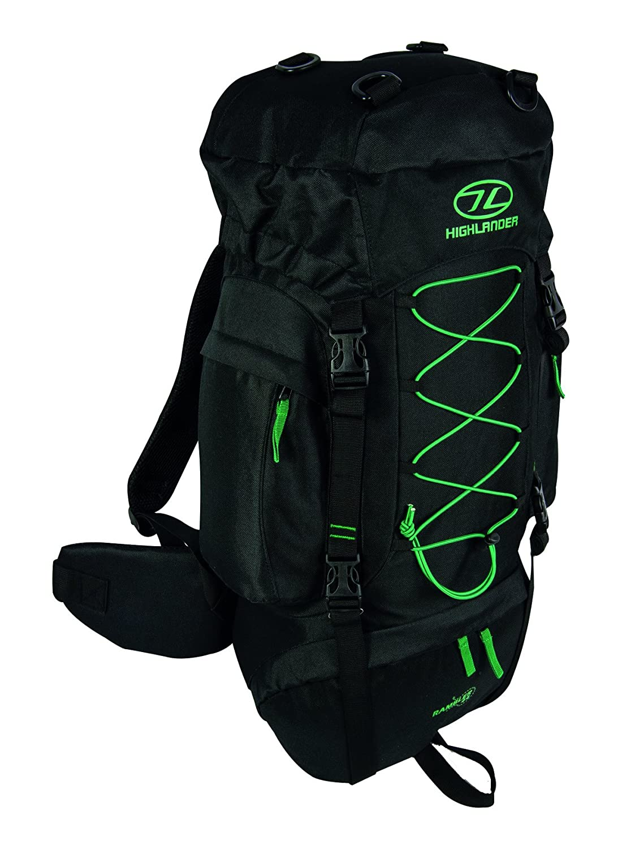 Highlander Rambler 44 Rucksack Hiking Backpack Cadet Pack 44l Black Forest Green B01G9UR4EY