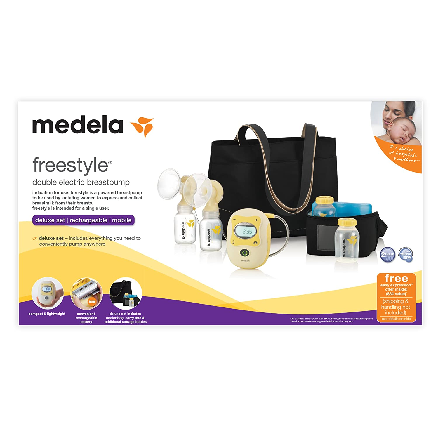 Amazon.com : Medela Freestyle Breast Pump : Electric Breast Feeding Pumps :  Baby