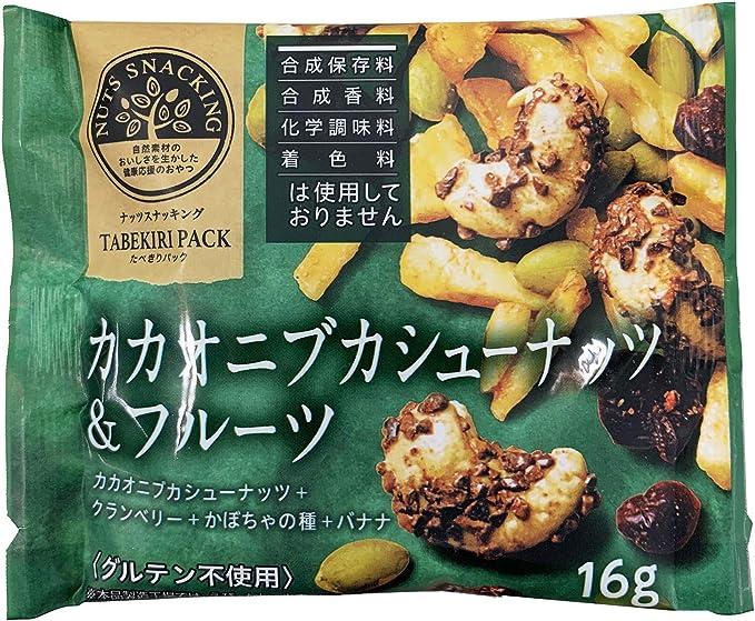 MD ナッツスナッキングTPカカオニブカシューナッツ&フルーツ 16g ×12袋