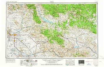 Topographical Map Of Arizona.Amazon Com Yellowmaps Mesa Az Topo Map 1 250000 Scale 1