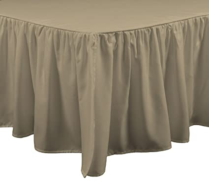 California King Bed Skirt.Brielle Stream California King Bed Skirt Cal Linen