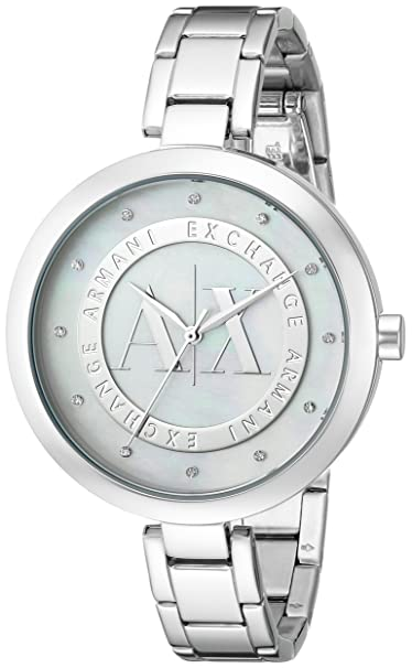 Amazon.com: Armani Exchange Reloj de ax4223 Plata para Mujer ...