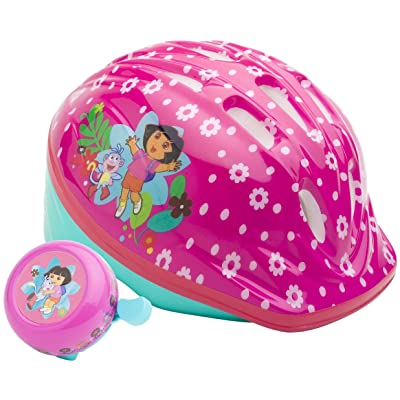 Dora Toddler Microshell Helmet (Pink) : Bike Helmets : Sports & Outdoors