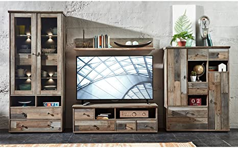 "Wohnwand Schrankwand Mediawand Anbauwand TV-Wand Wohnzimmerschränke ""Britta  I"""