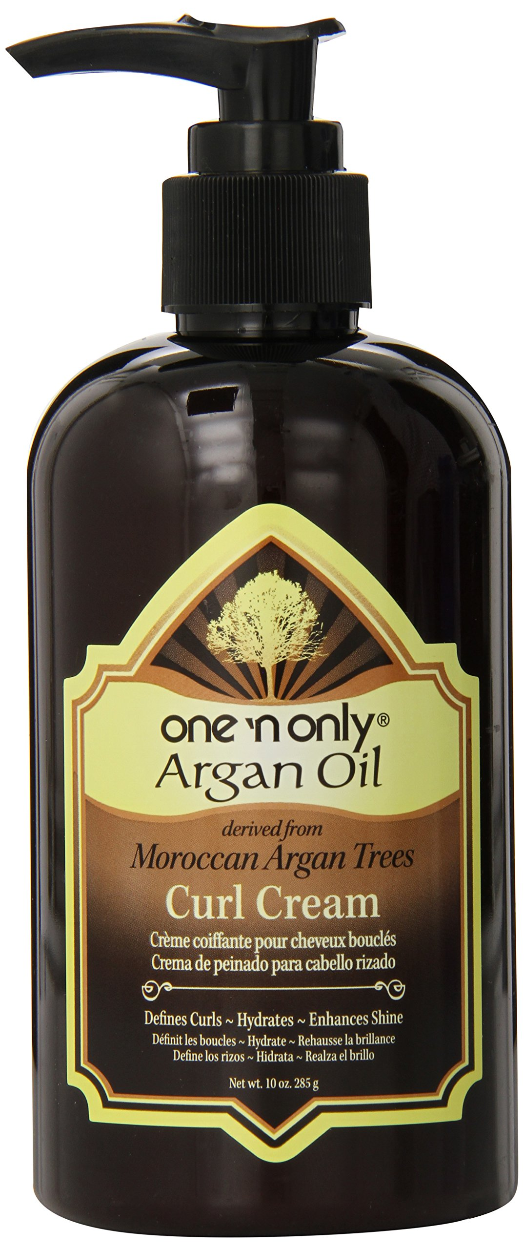 one 'n only Argan Oil Curl Cream Derived from Moroccan Argan Tress, 10 Ounce