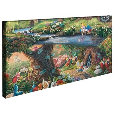 Thomas Kinkade Disney Alice in Wonderland 16 x 31 Gallery Wrapped Canvas