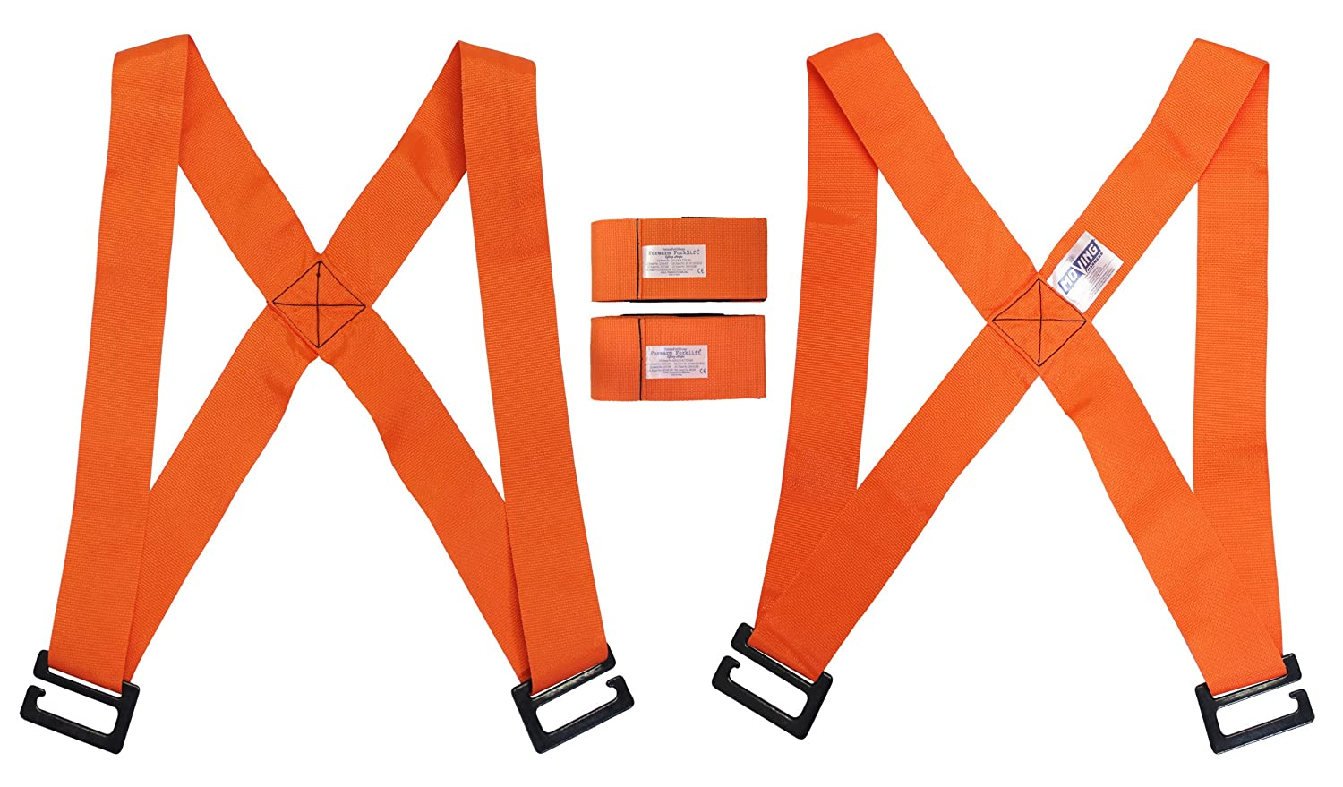 Forearm Forklift FFMCVP Harness 2-Person Shoulder Lifting and Moving System for Furniture, Appliances, Mattresses or Heavy Objects up to up to 800 Pounds, Orange