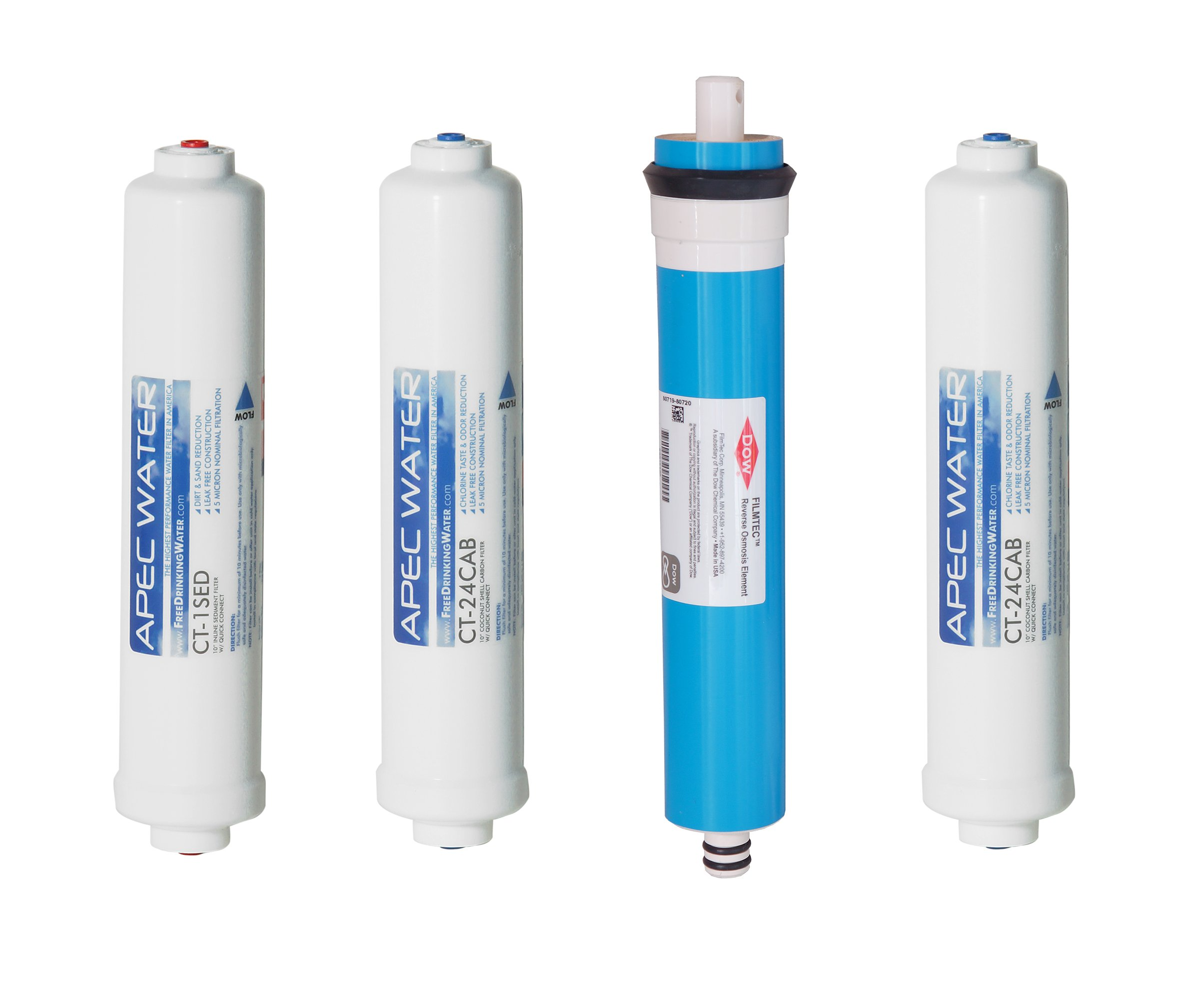 APEC FILTER-MAXCTOP US MADE 90 GPD Complete Replacement Filter Set for ULTIMATE Series Countertop Reverse Osmosis Water Filter System