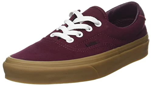 c46d272f1123 Vans Mens Port Royale Burgundy Light Gum Canvas Era 59 Sneakers ...