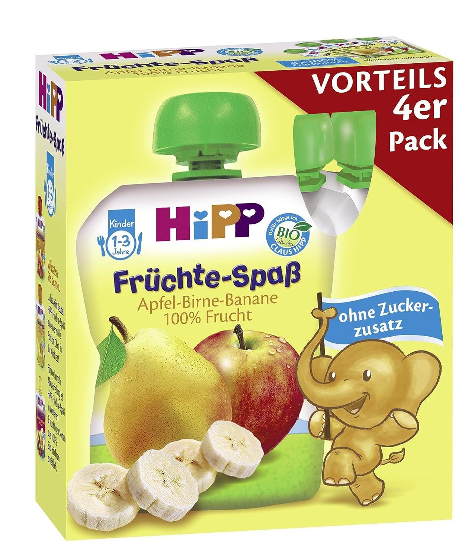 Hipp Apfel-Birne-Banane 4er Vorteilspack - 4 x 90 g - 6er Pack (6 x 360 g) - Bio