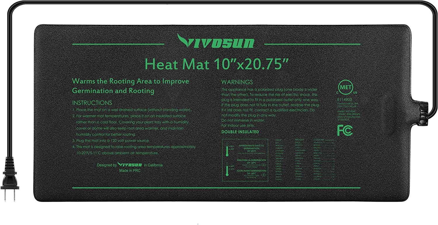 Amazon Com Vivosun Durable Waterproof Seedling Heat Mat Warm
