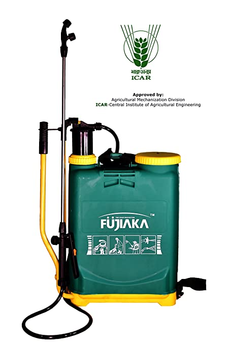 Fujiaka NS/16 Hand Operated/Manual Knapsack/Backpack Agricultural Sprayer-16 Litre- (Green and Yellow)