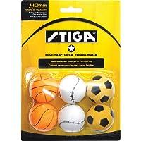 STIGA 1-Star pelotas de tenis de mesa deporte (paquete de 6)