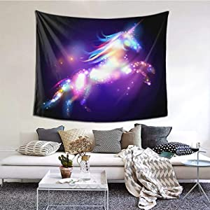 Unicorn tapestry Wall Art Hanging For Bedroom Living Room Dorm 60 X 51 Inches Wall Blankets Home Decor