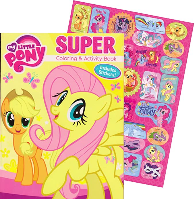 Amazon My Little Pony Coloring And Activity Book With 30 Stickers 144 Pages Toys Games
