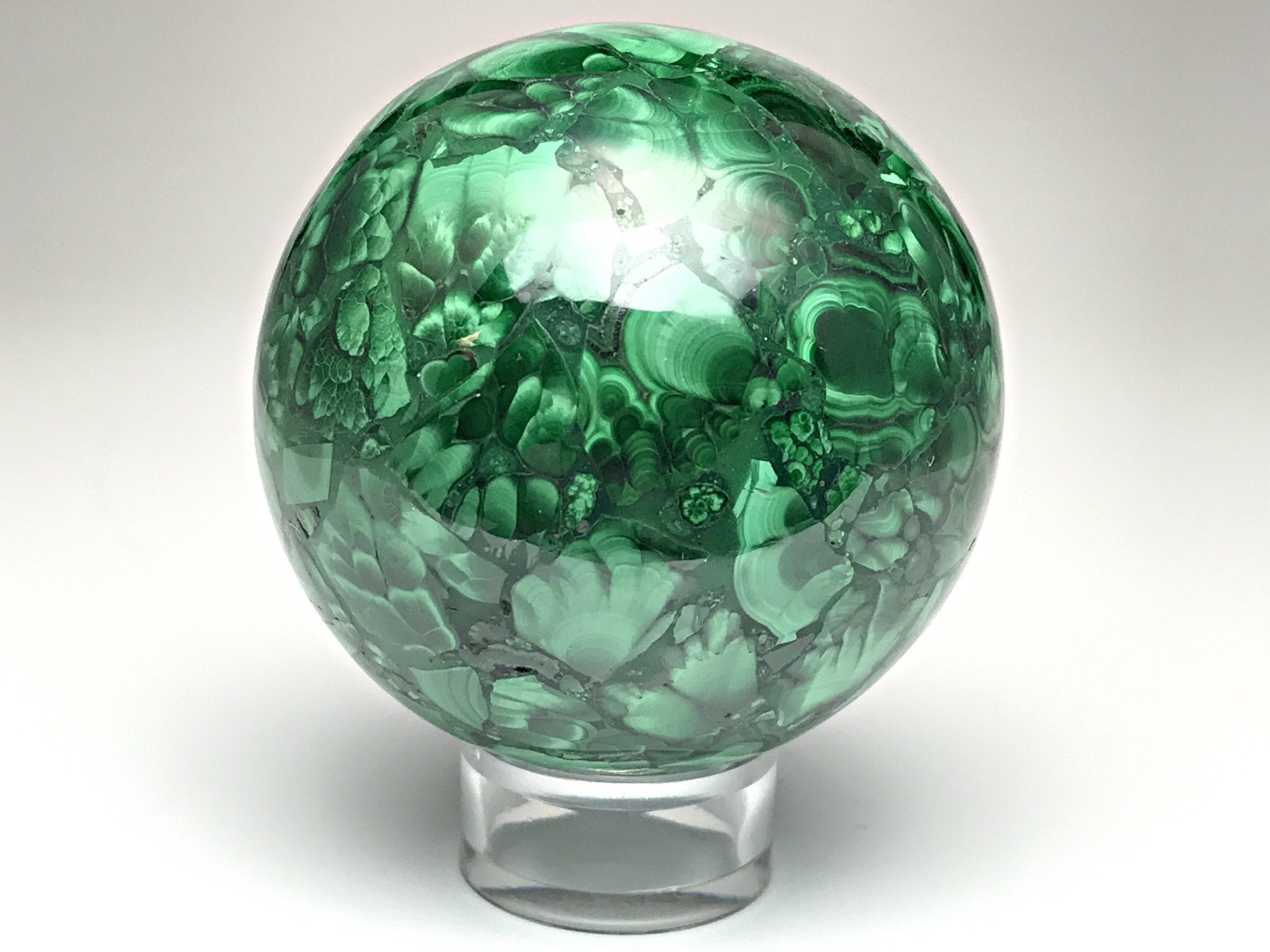 Astro Gallery Of Gems Polished Malachite Sphere - 284. 4 Grams