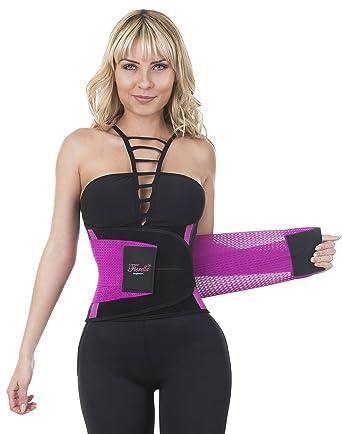 796ba8094f Neo Sweat Waist Trainer Hourglass Cincher Extreme Sauna Neoprene Power Belt  Fajas at Amazon Women s Clothing store