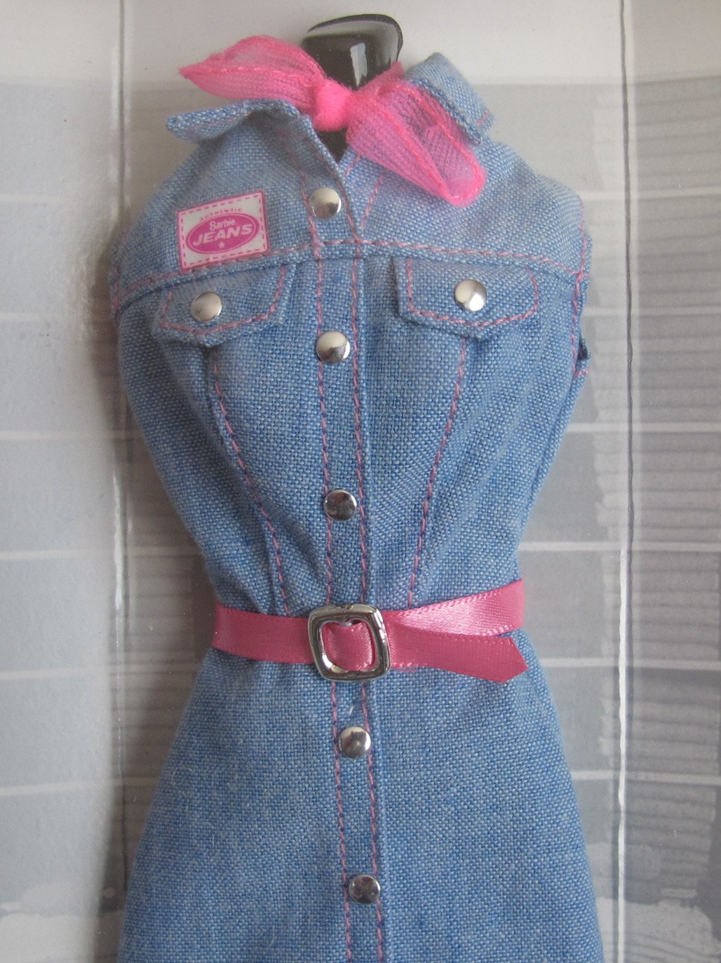4a62e1c535 Amazon.com  BARBIE Fashion Avenue AUTHENTIC JEANS FASHIONS Collection w  Long JEAN DRESS   More (1997)  Toys   Games