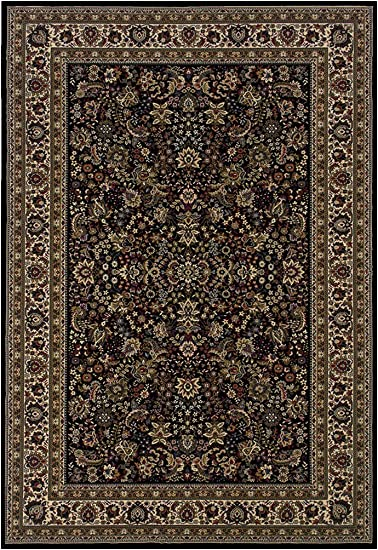 Amazon Com Oriental Weavers Ariana 213k8 Area Rug 10 X 12 7 Black Furniture Decor