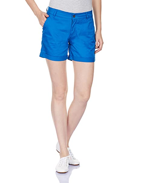 United Colors of Benetton Women's Cotton Shorts Shorts at amazon