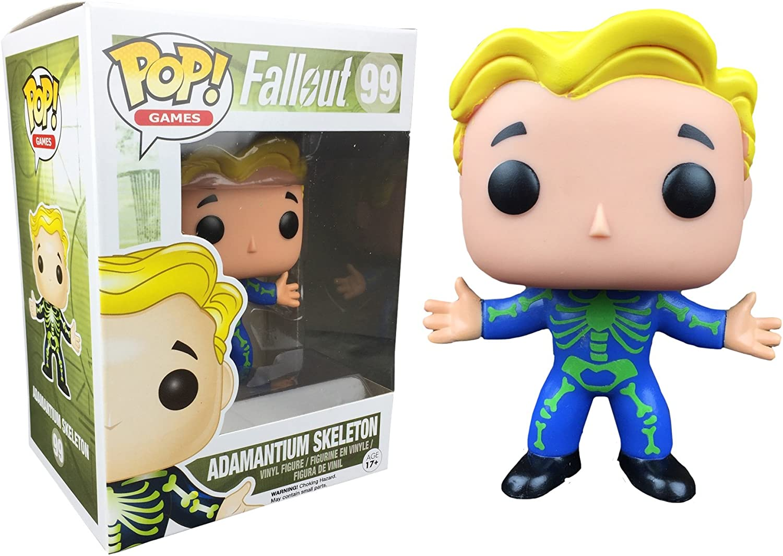 Funko Pop Games Fallout Adamantium Skeleton Chase Vault Boy Vinyl ...