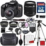 Canon EOS Rebel T6 DSLR Camera w/ EF-S 18-55mm f/3.5-5.6 IS II Lens + Professional Accessory Bundle