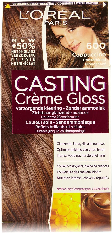 LOréal Paris Casting Crème Gloss 600 Cappuccino coloración del cabello Marrón - Coloración del cabello (Marrón, Cappuccino, Bélgica, 73 mm, 83 mm, ...