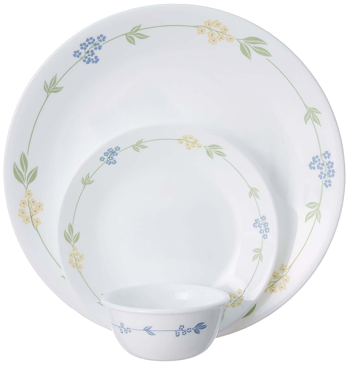 Corelle Livingware Secret Garden Dinner Set, 18-Pieces,