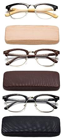 2412acd6d932 Fashion Clummaster Reading Glasses for Men Retro Vintage Reading Glasses  Horn Rimmed Half Frame Reading Glasses