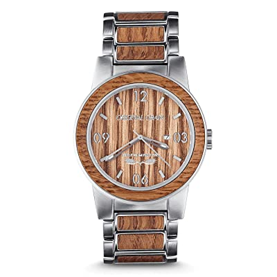 Original Grain Wood Wrist Watch | Brewmaster Collection Analog Watch | Wood And Stainless Steel | Japanese Quartz Movement | German Oak Beer Barrel Wood