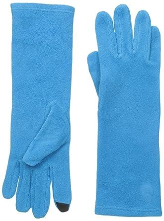 edf1799ba Cuddl Duds Women's Stretch Fleece Glove with Tech Fingertips, Aegean Blue,  One Size