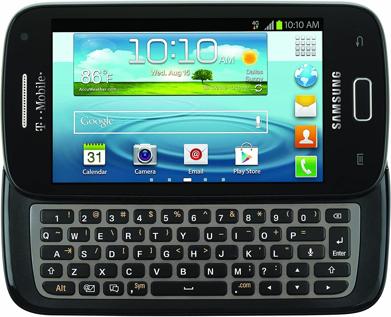 """Samsung T699 """"Galaxy S Relay 4G"""" T-Mobile Android Phone - Black"""