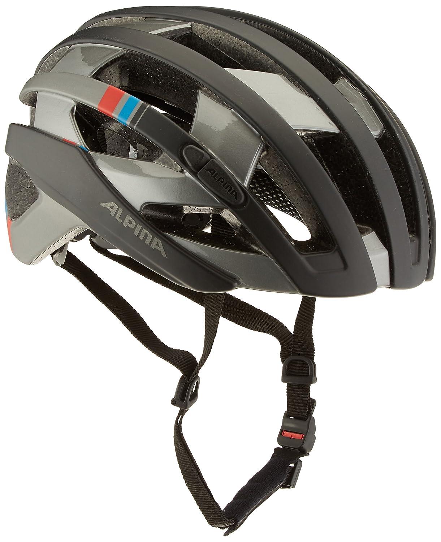 ALPINA(アルピナ) ヘルメット CAMPIGLIO サイクリングヘルメット 55-59 ブラック/ダークシルバー/ブルー/レッド B01M8HHE8G