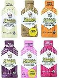 Honey Stinger Organic Energy Gel, 6-Flavor Variety Sampler Pack,1.1 Ounce, 2 of each flavor (Pack of 12)