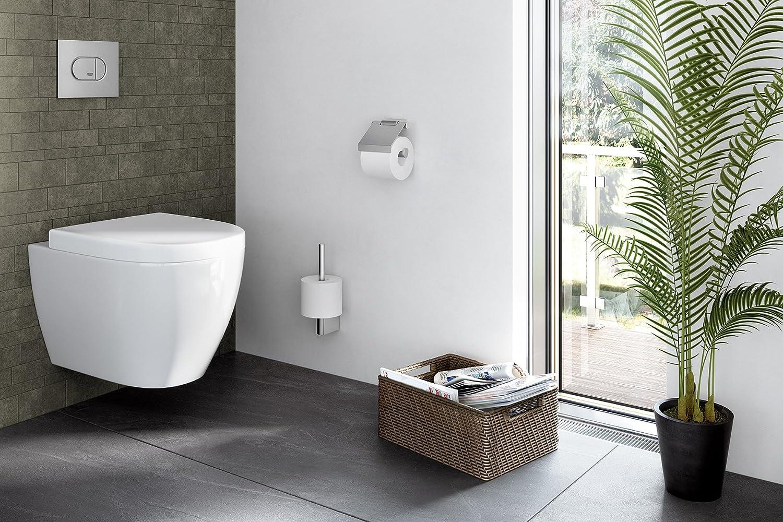ZACK PORTARROLLOS WC C//SOLAPA 12,4 x 12,4 x 5,4 cm Acier Inoxydable Silber