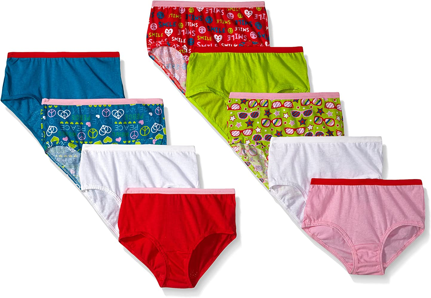 Assorted Multipacks Packs of 22 /& 24 Fruit of the Loom Girls Big Cotton Underwear