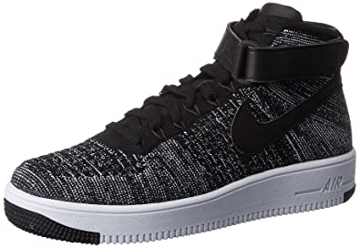 Nike Air Force 1 Ultra Flyknit Mid Top Sneakers Mens 817420-004 Size 8 Black 15effe52c25f