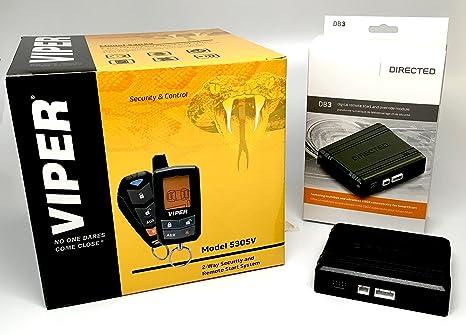 Viper 5305 V 2 Vías LCD Alarma de seguridad con mando a distancia coche arranque y