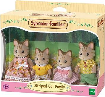 Amazon.es: Sylvanian Families - 5180 - Familia Gato de Rayas: Juguetes y juegos