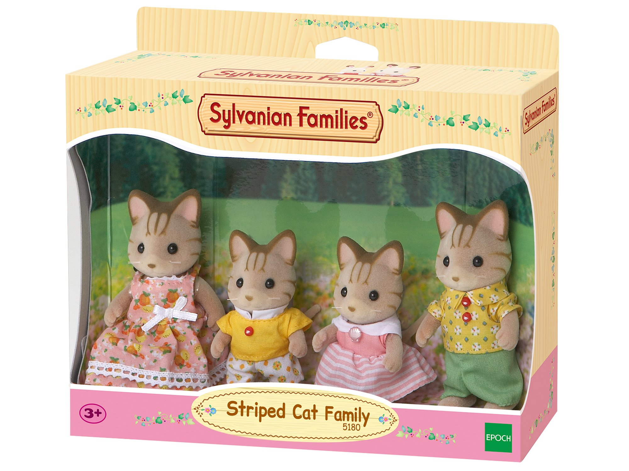 SYLVANIAN FAMILIES Striped Cat Family Mini muñecas y Accesorios Epoch para Imaginar 5180 product image