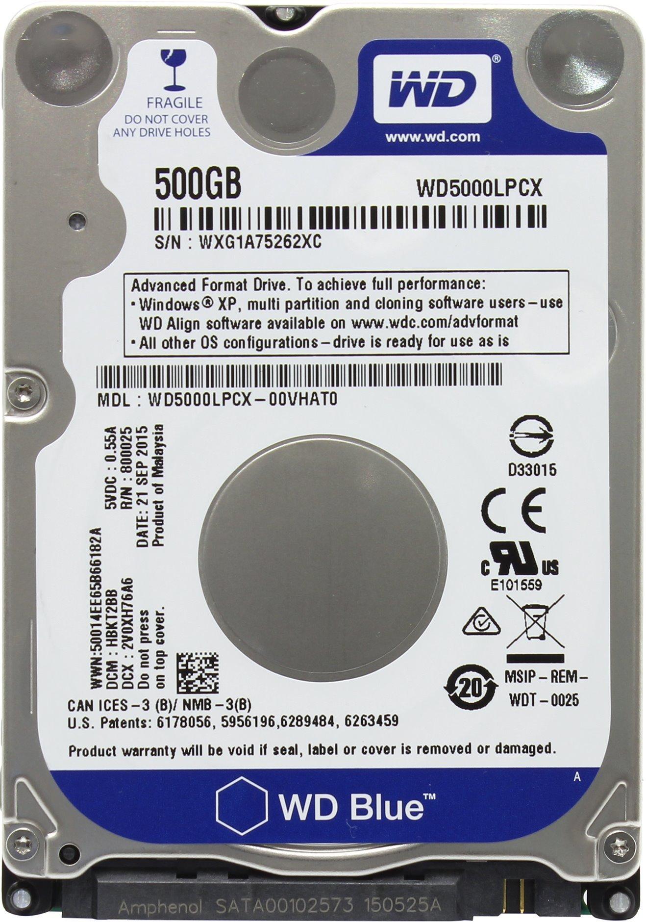 "Western Digital 500GB 2.5"" Playstation 3/Playstation 4 Hard Drive (PS3 Fat, PS3 Slim, PS3 Super Slim, PS4)"