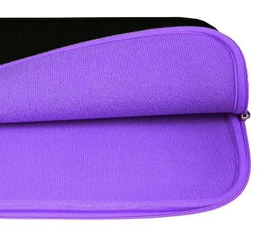 Emartbuy Negro Azabache//Azul Carpeta Suave Cremallera Funda Estuche Neopreno Resistente al Agua 11.6-13.9 Pulgadas Compatible con Los Siguientes Dispositivos