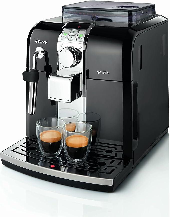 Saeco - Cafetera Espresso Syntia Total Black Hd883311 Automatica ...
