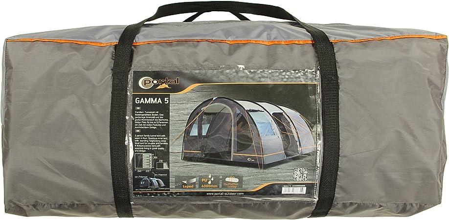 Unbekannt - Portal Gamma 5-5 Tienda de campaña Persona túnel, Inferior Cosido, 4000mm, 450x300x200cm, 14,5kg