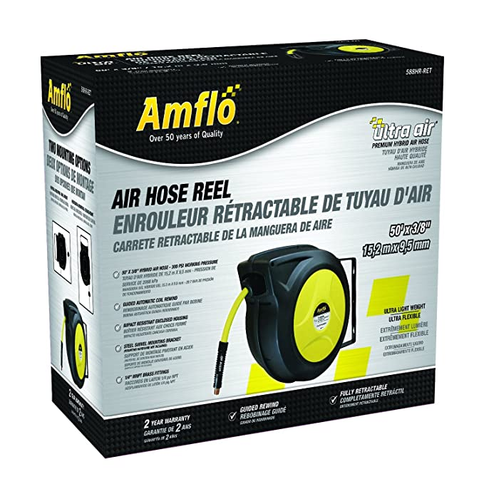 Amazon.com: Amflo 50 ft 588HR-RET Ultrapro Automatic Enclosed Air Reel with 3/8