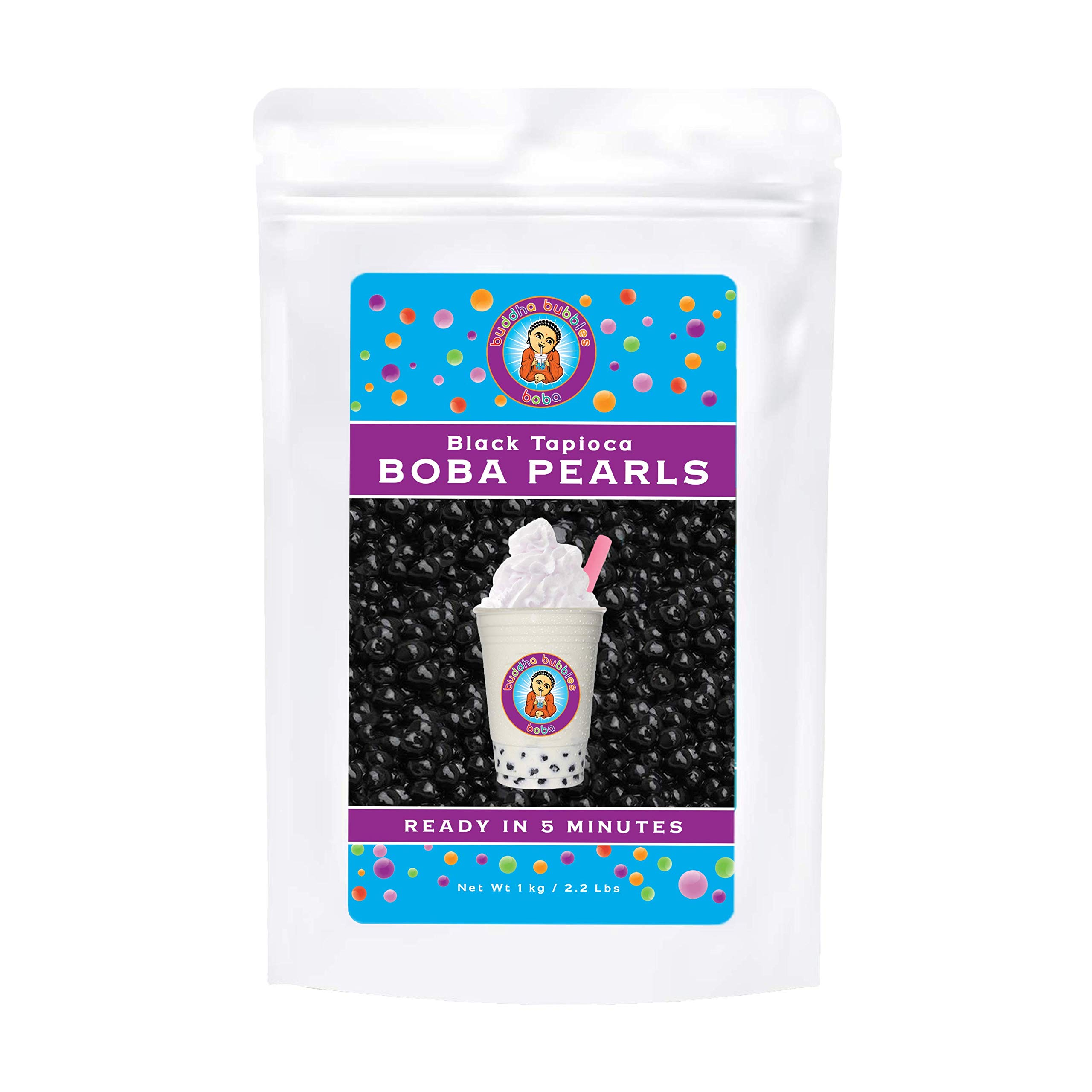 Boba / Black Tapioca Pearls By Buddha Bubbles Boba 1 Kilo (2.2 Pounds) | (1000 Grams) by Buddha Bubbles Boba