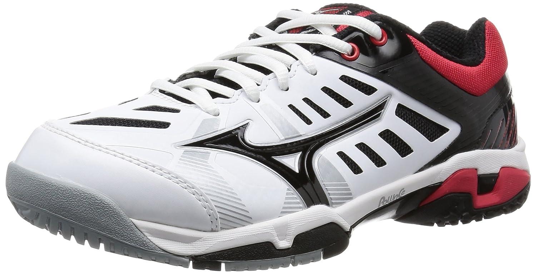 [ミズノ] テニスシューズ ウエーブエクシード SS ワイド OC メンズ B014D11YTC ホワイト/ブラック/レッド 24.0 cm